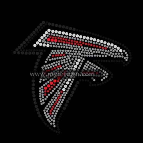 Atlanta Falcons Diamond Mascot Rhinestone Transfers