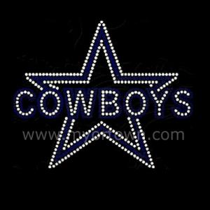 Star Cowboy Design Heat Transfer Rhinestone Wholesale