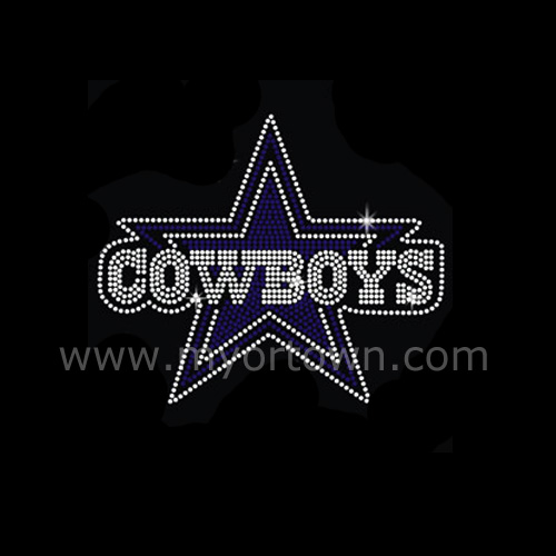 Rhinestone Motif Cowboys Stars Bling New Design Motif