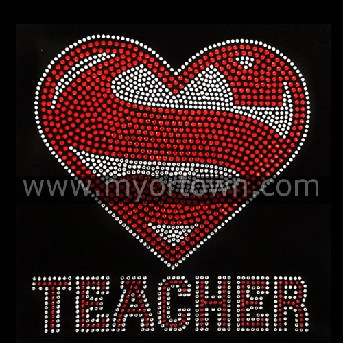 Rhinestone Iron On Super Teacher Rhinestone Transfer Diy