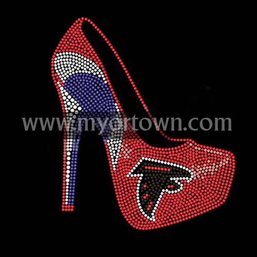 Hot Design Falcons High Heel Rhinestone Transfers For