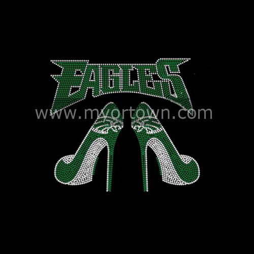 Philadelphia Eagles Shoes Rhinestone Transfers Hot Fix