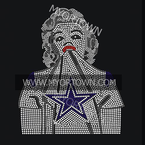 Marilyn Monroe Rhinestone Dallas Cowboys Football Custom