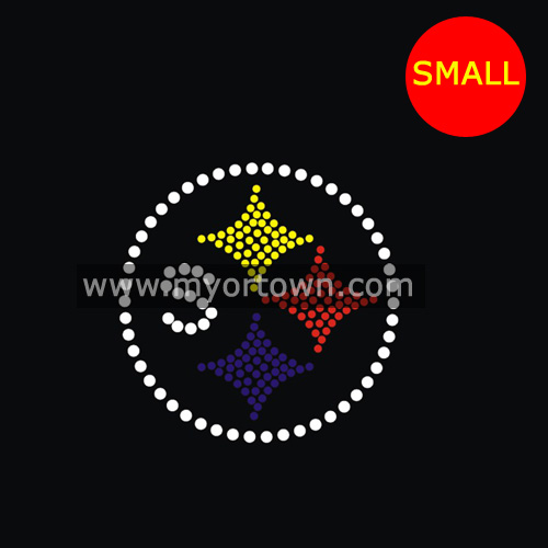 33a6838a5 Small Pittsburgh Steelers rhinestone transfer for hat Wholesale 50pcs lot