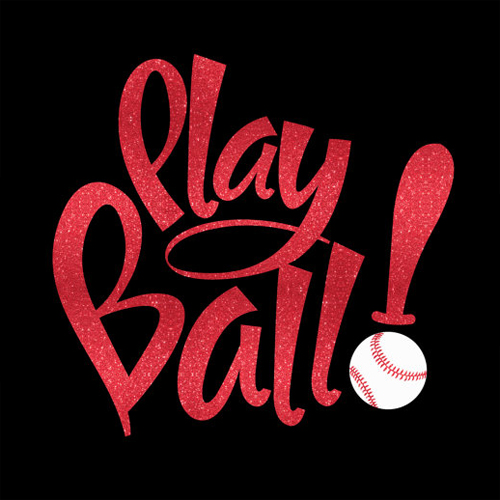 Play Ball With Your Choice Of Glitter Or Solid Iron On