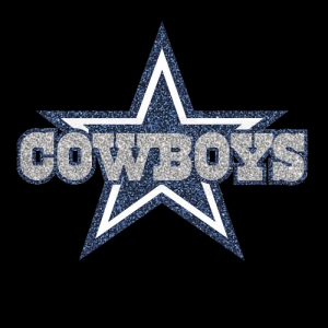 Dallas Cowboys Star Logo Iron On Vinyl Or Glitter Heat