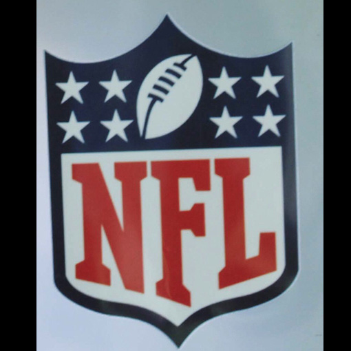 Nfl logo iron on heat transfer it s made of heat transfer film for Heat press decals for t shirts