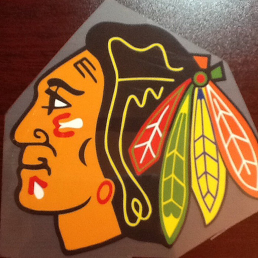 Chicago blackhawks iron heat transfer it s made of heat for Heat press decals for t shirts