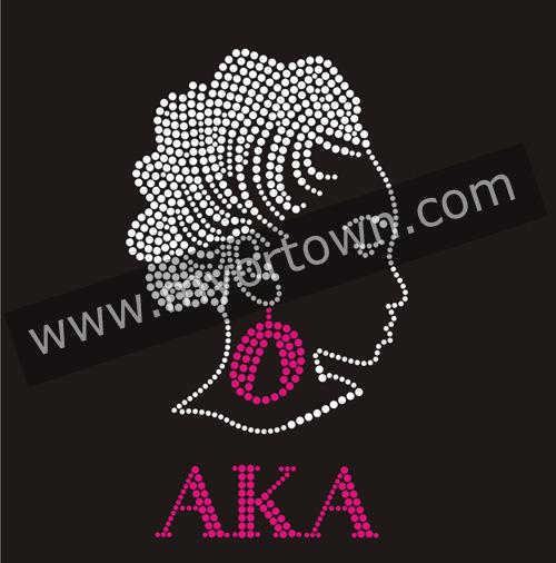 Bling Iron On Afro Girl Rhinestone Transfers Wholesale