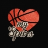 San Antonio Spurs- Heart My Spurs Glitter Transfers for t shirt Wholesale 30pcs/lot