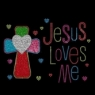 Jesus loves me rhinestone heat transfer designs with glitter vinyl Heat Transfer Wholesale 30pcs/lot