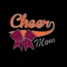 Cheer Mom with Bow glitter/Vinyl  & Rhinestones Wholesale 30pcs/lot