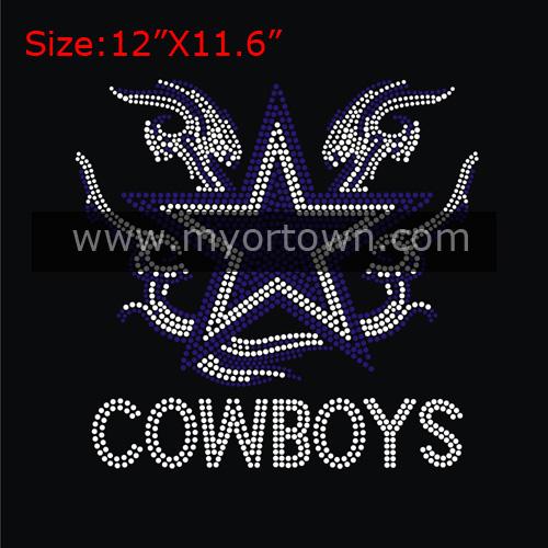 New Arrivals Dallas Cowboys Iron On Rhinestone Transfer