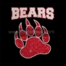 Women's Glitter Bling bears shirt Wholesale 30pcs/lot