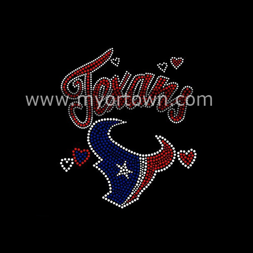 Wholesale Houston Texans Iron On Rhinestone Transfer