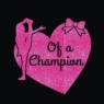 Heart Of A Champion Cheer Transfer design for T-Shirts Wholesale 30pcs/lot