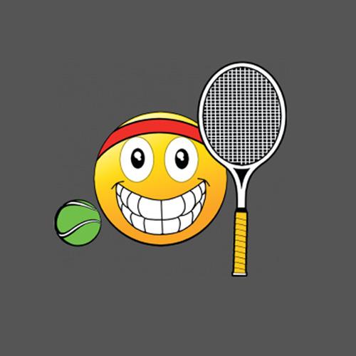 Emoji Tennis Ball Amp Racquet Iron On Heat Transfer Design