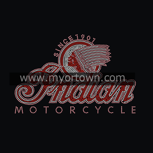 Whloesale Custom Motorcycle Iron On Rhinestone Transfer