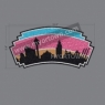 San Antonio Skyline Spurs Iron on Rhinestone glitter Transfer 30pcs/lot