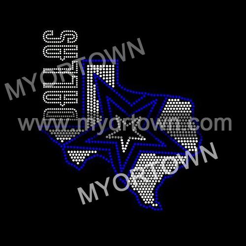 Dallas Cowboys Iron On Rhinestone Transfer Bling Design