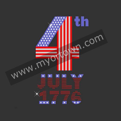 4th Of July Iron On Wholesale Heat Transfer Sportswear Designs