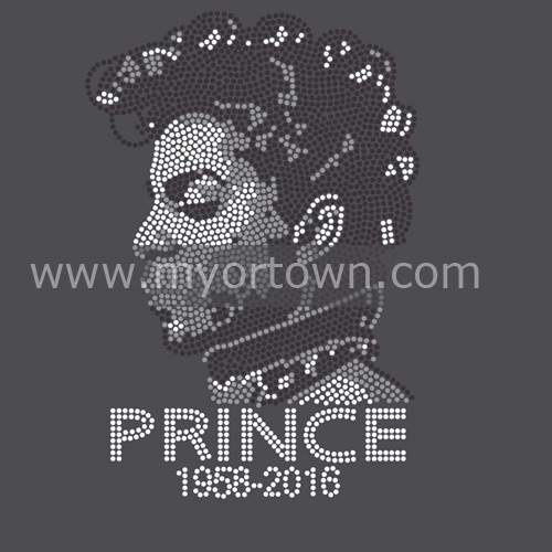 Prince Rhinestone Transfer Iron On Motifs