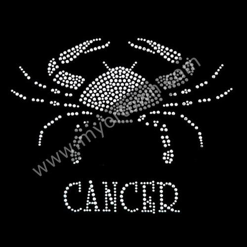 Zodiac Cancer Iron On Rhinestone Transfer