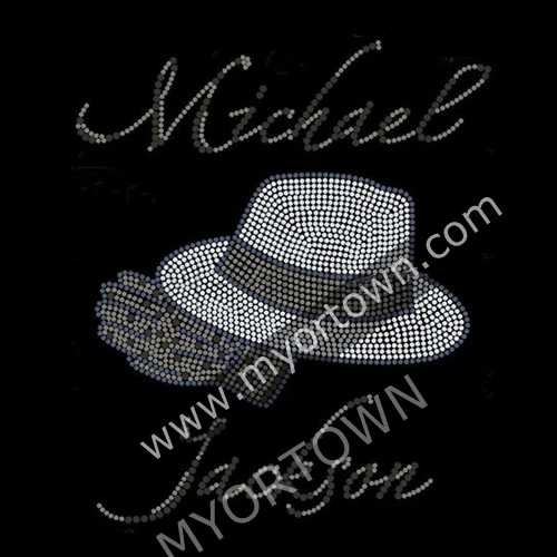 Wholesale Michael Jackson Rhinestone Design Transfer Hot