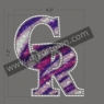 Fashion Colorado Rockies Iron-on Glitter Rhinestone 30pcs/lot