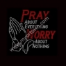 Pray about everything Worry about nothing (Large) Religious Rhinestone Transfer30pcs/lot