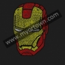 Iron Man Logo Rhinestone Iron On Transfer Hot Fix Bling 30pcs/lot