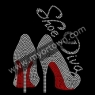 Shoe Diva Heels Stiletto RED Rhinestone Transfer 30pcs/lot