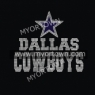 Nfl Dallas Cowboys hot fix motif  Rhinestone heat Transfer 30pcs/lot