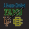 Custom A House Divided Famu rhinestone Iron-on Transfer design 30pcs/lot