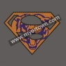 Chicago Bears Superman Rhinestone Iron On Heat Transfe 30pcs/lot