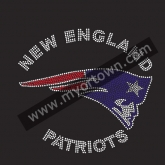 Custom New England Patriots football Rhinestone Iron On Heat Transfe 30pcs/lot