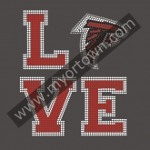 Love Atlanta Falcons Football Rhinestone Iron On Heat Transfe 30pcs/lot