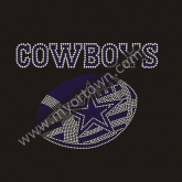 Custom Dallas Cowboys NFL football Rhinestone Iron On Heat Transfe 30pcs/lot