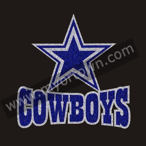 d0dd736e5 Hot sales Dallas Cowboys Rhinestone Glitter Bling transfer for T shirt  wholesale price 30pcs lot