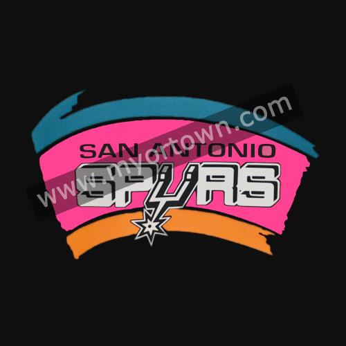 San antonio spurs glitter vinyl transfer iron on hotfix bling for San antonio custom t shirts