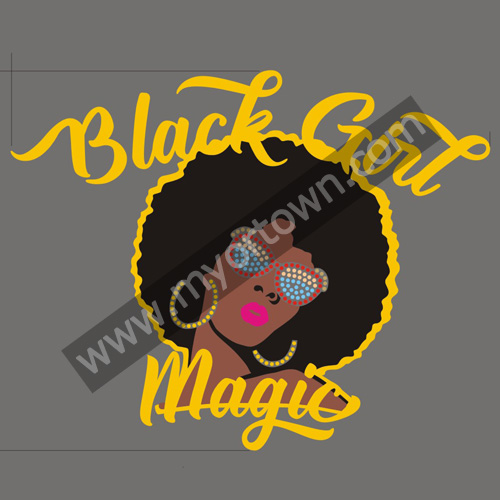 Afro Black Girl Magic Glirls Korean Rhinestone Amp Fabric