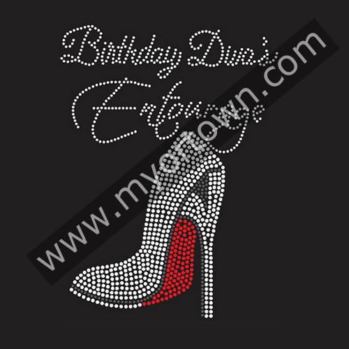 Birthday Divas Entourage Rhinestone Transfer Iron-On