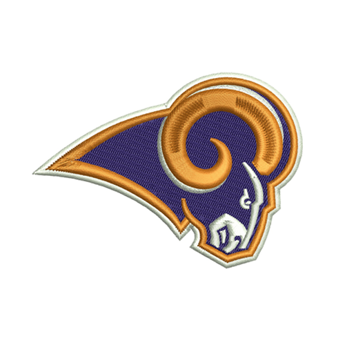 Los Angeles Rams Embroidery Design For T-shirt